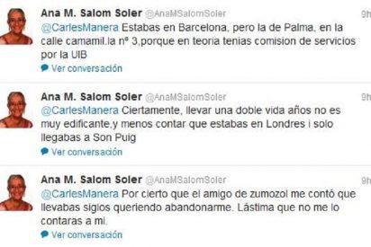 La exconsellera Salom la lía en Twitter tras divorciarse de Manera y acusarle de fraude