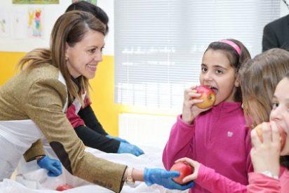 Cospedal anima a los alumnos de la región a tener hábitos de vida saludables