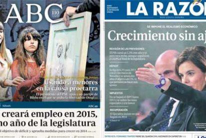 Solo 'ABC' y 'La Razón' se resisten a dar por fracasado al Gobierno de Rajoy en la lucha contra el paro