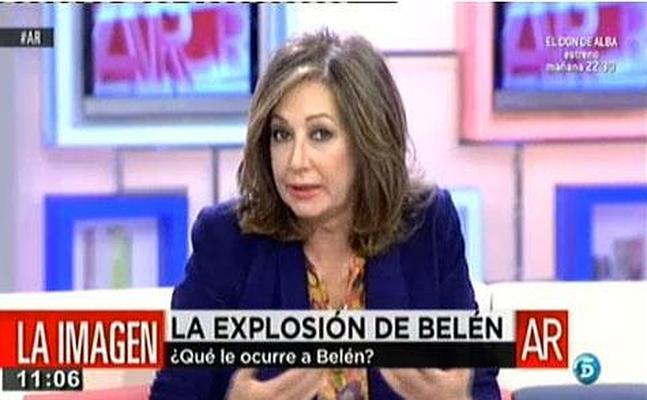 """Ana Rosa Quintana: """"Belén Esteban tiene que ingresar en un centro, es una enferma y yo me presto a ayudarla"""""""