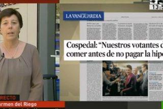 El ataque de La Vanguardia a Cospedal acaba en ridículo tras las esperpénticas explicaciones de Carmen del Riego