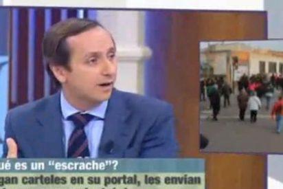 """Carlos Cuesta (13TV) contra las manifestación del 25-A: """"¡Ellos quieren volar el sistema democrático!"""""""