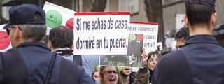 El acoso al presidente del Congreso conecta el colectivo antidesahucios y el 15-M