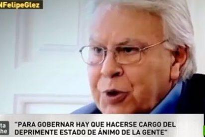 """Felipe González: """"Rubalcaba es la cabeza más privilegiada de la política... pero no está acertando"""""""