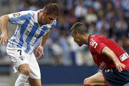 El Málaga de la 'mala suerte' gana esta vez en el descuento al Osasuna (1-0)