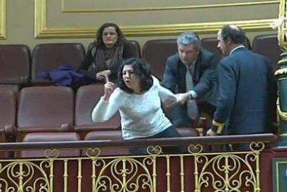 """Un grupo de afectados por las preferentes monta el pollo en el Congreso al grito de """"ladrones"""" y """"chorizos"""""""