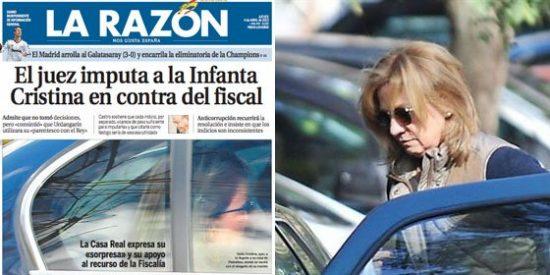 Marhuenda convierte al juez Castro en el malo de la película tras imputar a la Infanta Cristina