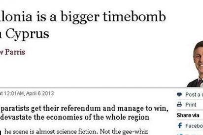 """'The Times' ve en Cataluña """"una bomba de relojería peor que Chipre"""""""