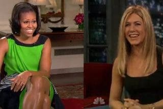 Las mujeres norteamericanas admiran los brazos de Michelle Obama y de la actriz Jennifer Aniston