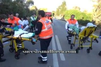 El conductor que arrolló al pelotón ciclista en la carretera de Muro iba borracho
