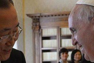 Francisco y Ban Ki-Moon debaten sobre la situación en Siria, Corea y África