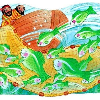 Pedro se echa al agua. La gran pesca