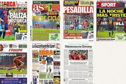 """La prensa deportiva de Madrid coincide en que es el """"fin de ciclo"""" del Barça"""