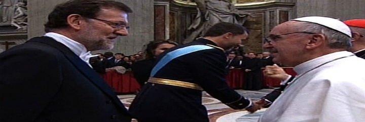 Rajoy, el primer jefe de Gobierno europeo que será recibido por Francisco