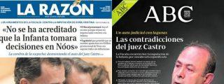 El monárquico ABC sale a cargar contra el juez Castro por imputar a la Infanta Cristina