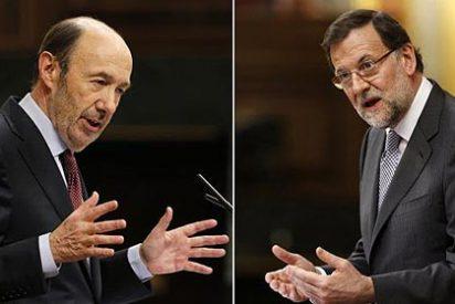 España está entre la espada oxidada de Rubalcaba y la pared en ruinas de Rajoy