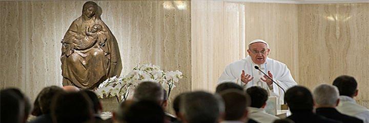 """Francisco: """"En la Iglesia también hay trepas en busca de gloria"""""""