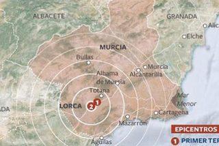 Alarma en Lorca por un terremoto de magnitud 4,3 en la escala de Richter