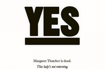 La web montada por los enemigos de Thatcher para celebrar su muerte