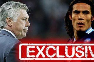 Carlo Ancelotti quiere traerse a Edinson Cavani al Real Madrid