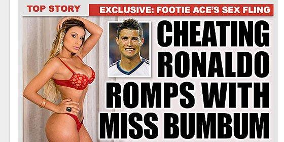 El trasero que volvió loco a Cristiano Ronaldo y la apuesta que terminó mal