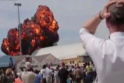 Muere el piloto de un avión al estrellarse durante una exhibición en Madrid