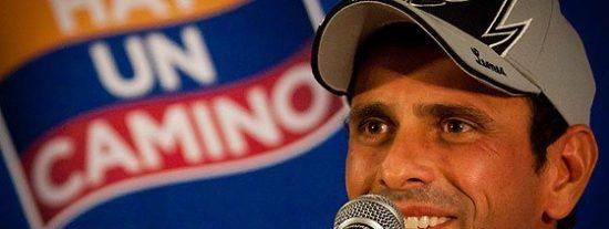 """Henrique Capriles: """"El 14 de abril me robaron la victoria electoral"""""""