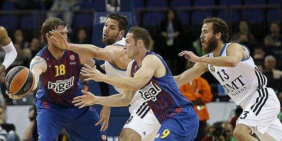 Felipe Reyes asusta al Barcelona y mete al Real Madrid en la final de la Euroliga