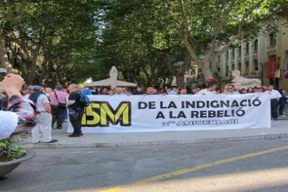 El escrache al sistema del 15M constata el débil pulso de los 'indignados' en Palma