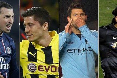 El Real Madrid busca '9': ¿Ibrahimovic, Lewandowski, Agüero o Falcao?