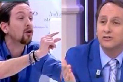 """El antisistema Pablo Iglesias se estrena en 13TV con una bronca con Carlos Cuesta: """"Tú lo que eres es un cínico"""""""