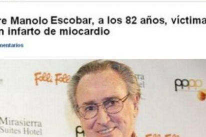Twitter 'mata' a Manolo Escobar por segunda vez en tres meses