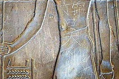 Los internautas dan 'caza virtual' al macarra chino que pintarrajeó las ruinas de Luxor