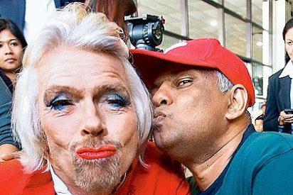 La azafata mas fea de 'Virgin' se llama Richard Branson y tiene barba