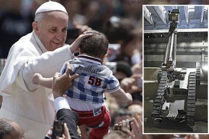 Los robots-custodios del Papa en Brasil