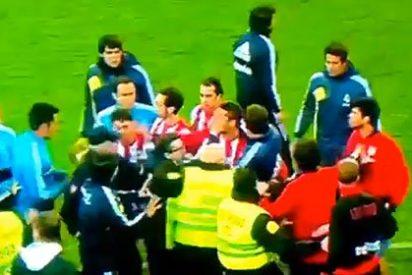 Hubo agresión: El puñetazo que el colchonero Diego Costa lanzó al madridista Pepe