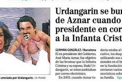 Urdangarin se burlaba de Aznar en los 'mails' que enviaba a la Infanta