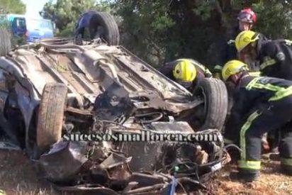 Muere un hombre de 38 años tras volcar su coche en la carretera de Llucmajor a Campos