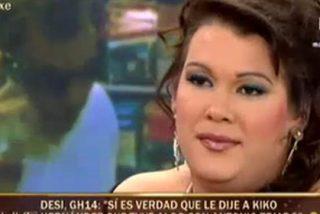 """Desi ('GH14') se estrena en el 'Sálvame' insultando a su propio padre y enfrentándose a María Patiño: """"¡Deja de decir gilipolleces!"""""""