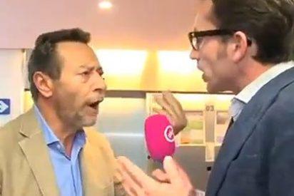 Un eurodiputado pega al periodista que lo 'cazó' fichando solo para cobrar dietas