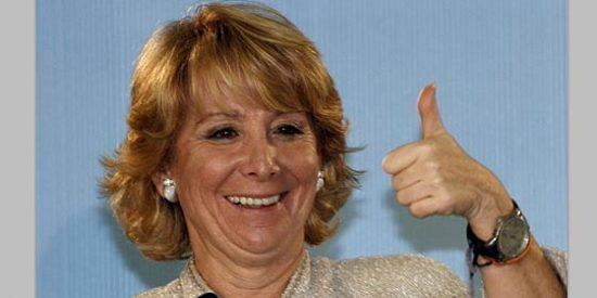 """Esperanza Aguirre: """"El PP es especialista en resolver los problemas que crean los socialistas"""""""