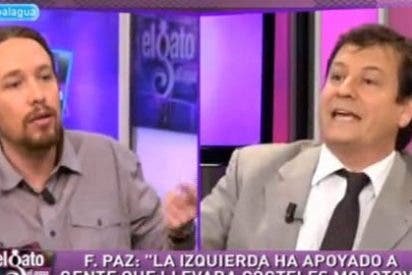 """Fernando Paz, cara a cara con Pablo Iglesias: """"Es cómico que se quejen de los chorros de agua cuando hay gente protestando con lanzagranadas"""""""