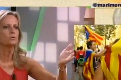 """Isabel San Sebastián al independentista Oller: """"Jamás, Cataluña ha sido unidad política independiente"""""""