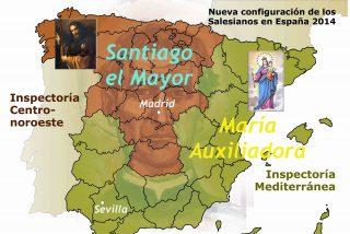 Nueva configuración de los salesianos en España