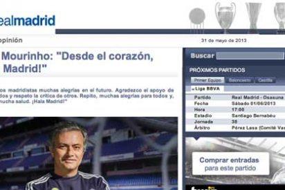 """Mourinho y su despedida 'online' del Real Madrid en tres líneas: """"Desde el corazón, ¡Hala Madrid!"""""""
