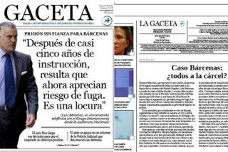 La Gaceta ve a Bárcenas como una víctima de la 'justicia de escaparate'
