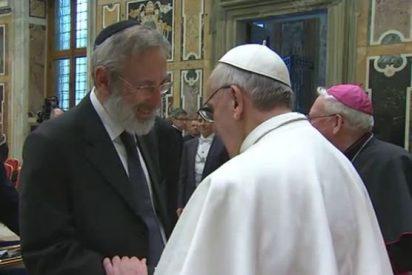 Un grupo de rabinos, con el Papa