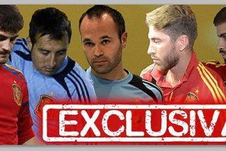Los 6 robados de 'La Roja': Casillas, Ramos, Iniesta, Cazorla, Piqué y otro