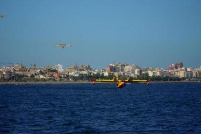Sólo los medios aéreos pueden evitar ahora el avance del fuego en la finca pública Galatzó