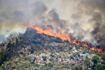 Desalojado un pueblo entero por el incendio incontrolado de Andratx